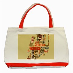 Michael Jackson Typography They Dont Care About Us Classic Tote Bag (red) by FlorianRodarte