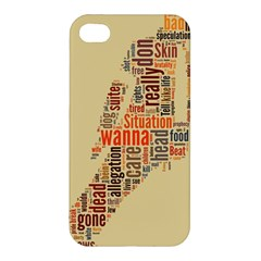 Michael Jackson Typography They Dont Care About Us Apple Iphone 4/4s Hardshell Case by FlorianRodarte