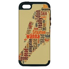 Michael Jackson Typography They Dont Care About Us Apple Iphone 5 Hardshell Case (pc+silicone) by FlorianRodarte