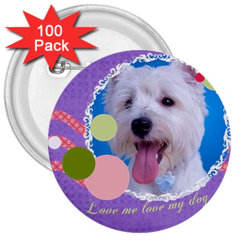 Pet By Pet    3  Button (100 Pack)   Iqcp67se5g45   Www Artscow Com Front
