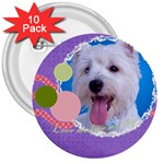 pet - 3  Button (10 pack)