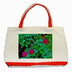 Rose Bush Classic Tote Bag (red) by sirhowardlee