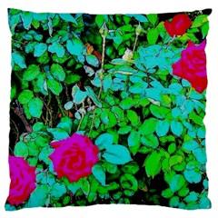 Rose Bush Large Cushion Case (single Sided)