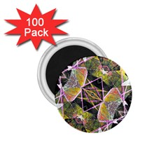 Geometric Grunge Pattern Print 1 75  Button Magnet (100 Pack) by dflcprints