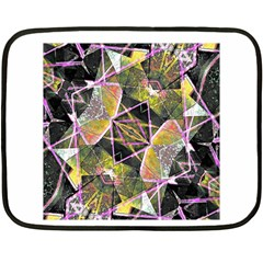 Geometric Grunge Pattern Print Mini Fleece Blanket (two Sided) by dflcprints