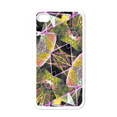 Geometric Grunge Pattern Print Apple Iphone 4 Case (white) by dflcprints