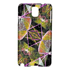 Geometric Grunge Pattern Print Samsung Galaxy Note 3 N9005 Hardshell Case by dflcprints