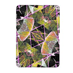 Geometric Grunge Pattern Print Samsung Galaxy Tab 2 (10 1 ) P5100 Hardshell Case  by dflcprints