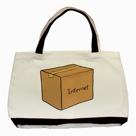 Internet Box Tote By Alex Carbonaro   Basic Tote Bag   6lwn9e9nlq2y   Www Artscow Com Front