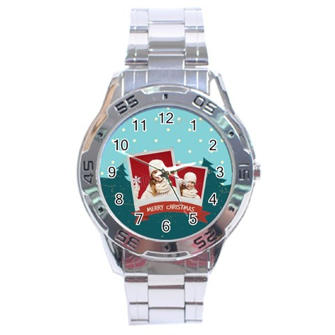 Xmas By Xmas   Stainless Steel Analogue Watch   4wyvoigbpm4g   Www Artscow Com Front