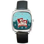 xmas, Christmas gift  - Square Metal Watch