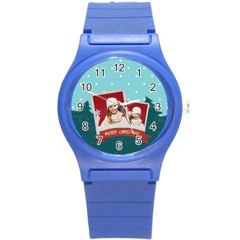 Xmas By Xmas   Round Plastic Sport Watch (s)   Mvs3dzedvszo   Www Artscow Com Front