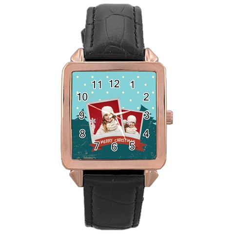 Xmas By Xmas   Rose Gold Leather Watch    Un8y8xa54kku   Www Artscow Com Front