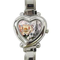 Vintage Paris Eiffel Tower Floral Heart Italian Charm Watch  by chicelegantboutique