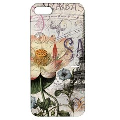 Vintage Paris Eiffel Tower Floral Apple Iphone 5 Hardshell Case With Stand by chicelegantboutique
