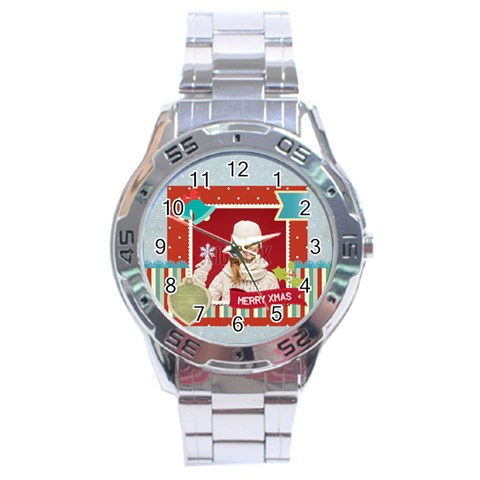 Xmas By Xmas   Stainless Steel Analogue Watch   Kljc032i1xwj   Www Artscow Com Front
