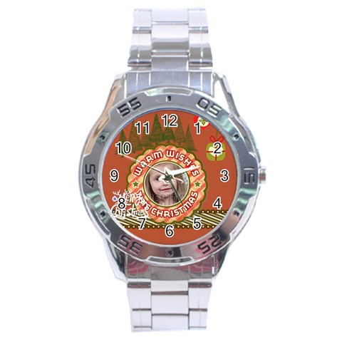 Xmas By Xmas   Stainless Steel Analogue Watch   3m1q5qmlanzw   Www Artscow Com Front