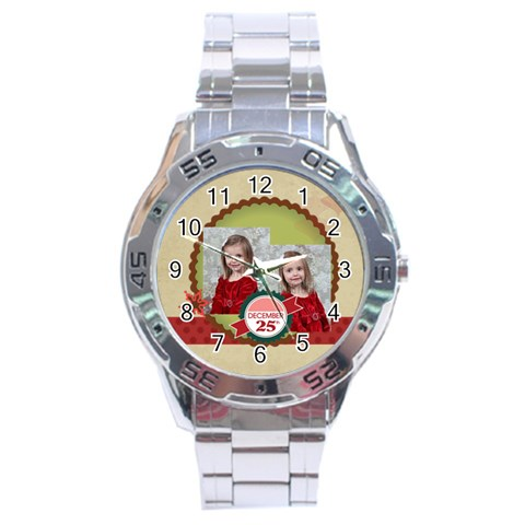 Xmas By Xmas   Stainless Steel Analogue Watch   N8jj50wos6qc   Www Artscow Com Front
