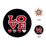 Love Cards - Playing Cards (Round)