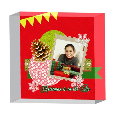 Xmas By Merry Christmas   5  X 5  Acrylic Photo Block   Ot74qpyubz0v   Www Artscow Com Front