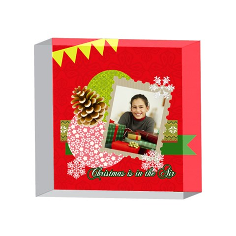Xmas By Merry Christmas   4 x 4  Acrylic Photo Block   3bfkb562pqkv   Www Artscow Com Front