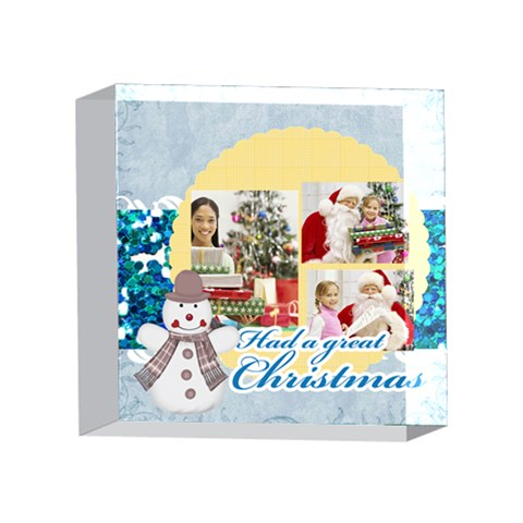 Xmas By Merry Christmas   4 x 4  Acrylic Photo Block   8wfqu6ky8qpc   Www Artscow Com Front