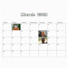 Grandma2014 By Karen   Wall Calendar 11  X 8 5  (12 Months)   Jk2eglfyoofd   Www Artscow Com Mar 2015