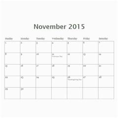 Calendar2015 By Paul Eldridge   Wall Calendar 11  X 8 5  (12 Months)   2py996ddrsdg   Www Artscow Com Nov 2015