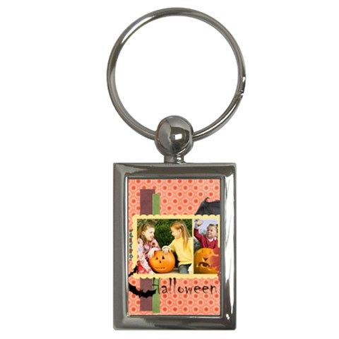 Halloween By Helloween   Key Chain (rectangle)   Yt6bo7exp1j8   Www Artscow Com Front