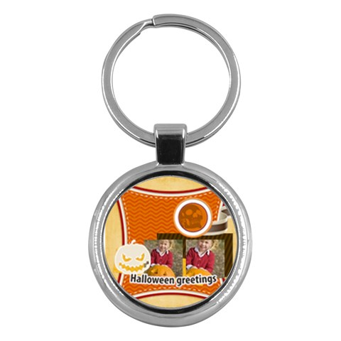 Halloween By Helloween   Key Chain (round)   1r2t3bf4pczq   Www Artscow Com Front