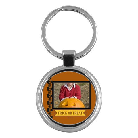 Halloween By Helloween   Key Chain (round)   Eah6nx7el1wn   Www Artscow Com Front