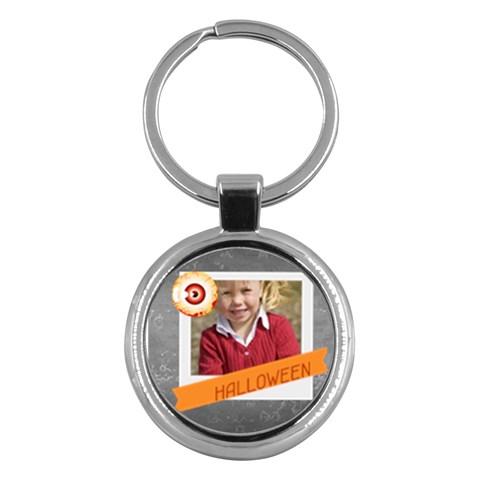 Halloween By Helloween   Key Chain (round)   5dpy596bri72   Www Artscow Com Front