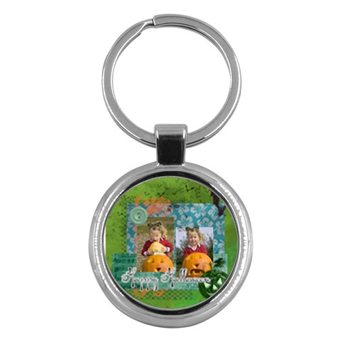 Halloween By Helloween   Key Chain (round)   Fue7htjun7w7   Www Artscow Com Front