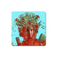 Flower Horizon Magnet (square) by icarusismartdesigns