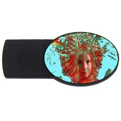 Flower Horizon 4gb Usb Flash Drive (oval) by icarusismartdesigns