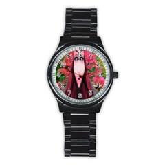 Tree Spirit Sport Metal Watch (black) by icarusismartdesigns