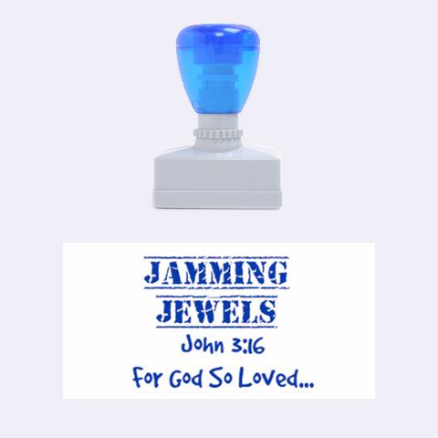 Jammin Jewels  By Sada   Rubber Stamp (medium)   F6jhefq82qr0   Www Artscow Com 1.34 x0.71  Stamp