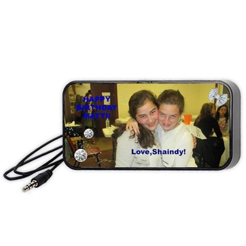 Happy Birthday Matti! By Shaindy   Portable Speaker (black)   I21o7ezr2ia0   Www Artscow Com Front