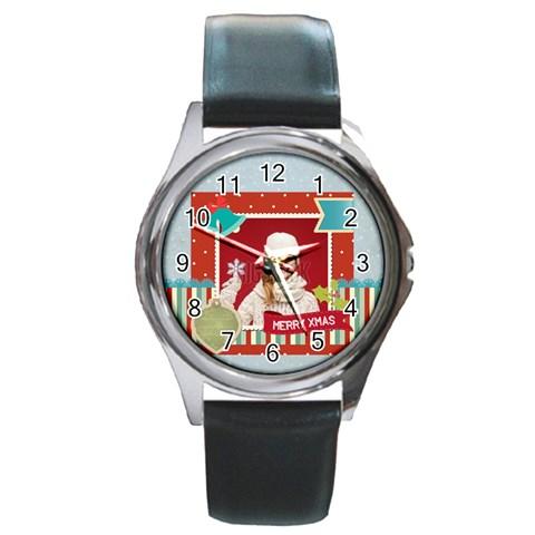 Xmas By Xmas   Round Metal Watch   Ziuhz0zq89a8   Www Artscow Com Front