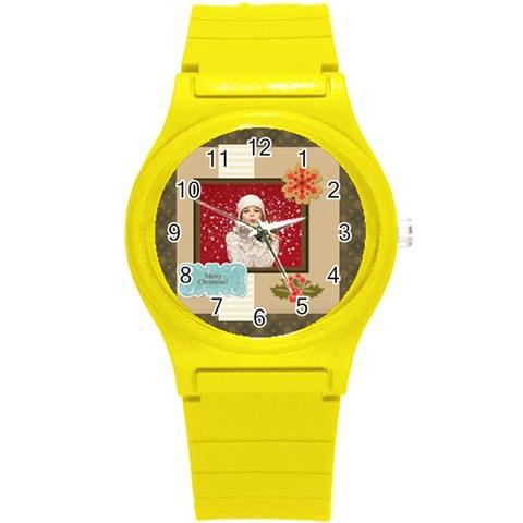 Xmas By Xmas   Round Plastic Sport Watch (s)   Rdle5782ry0u   Www Artscow Com Front