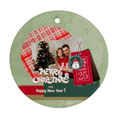 Xmas By Xmas4   Round Ornament (two Sides)   Etnxhbeb89so   Www Artscow Com Front