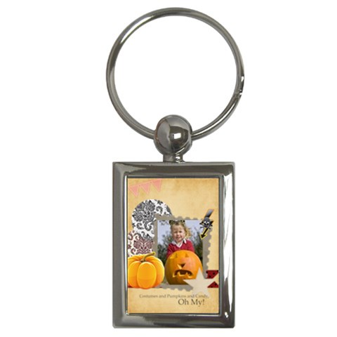 Halloween By Helloween   Key Chain (rectangle)   16e2zsep36pe   Www Artscow Com Front