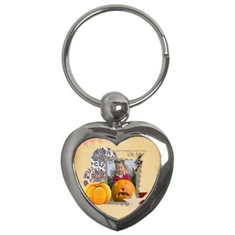 Halloween By Helloween   Key Chain (heart)   2k2lq28z8mkj   Www Artscow Com Front