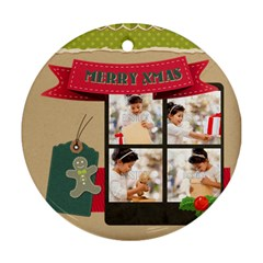 Xmas By Xmas4   Round Ornament (two Sides)   Lngxgibhz3g5   Www Artscow Com Front