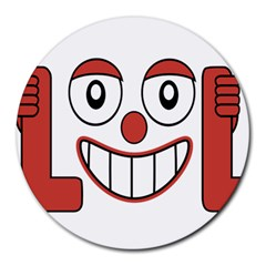 Laughing Out Loud Illustration002 8  Mouse Pad (round) by dflcprints
