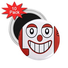 Laughing Out Loud Illustration002 2 25  Button Magnet (10 Pack) by dflcprints