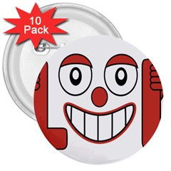 Laughing Out Loud Illustration002 3  Button (10 Pack) by dflcprints