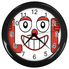 Laughing Out Loud Illustration002 Wall Clock (black) by dflcprints
