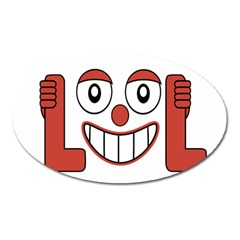 Laughing Out Loud Illustration002 Magnet (oval) by dflcprints