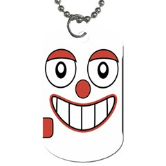 Laughing Out Loud Illustration002 Dog Tag (one Sided) by dflcprints